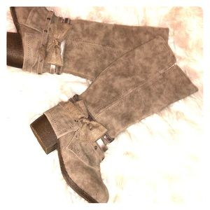 Girls Brown Faux Suede Boots